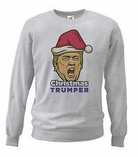 Adults Grey Christmas Trumper X-Mas Jumper USA American Gift Idea Sweatshirt