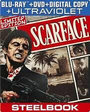 SCARFACE BLURAY & DVD + DIGITAL COPY STEELBOOK AL PACINO MICHELLE PFEIFFER
