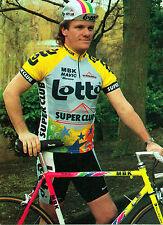 Carte Lotto MBK Mavic du belge Wim Arras c1990 pro de 1986 à 1990