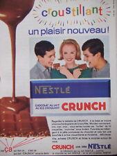 PUBLICITÉ CRUNCH DE NESTLE CROUSTILLANT CHOCOLAT AU LAIT
