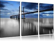 Ponte Vasco da Gama Brücke  3-Teiler Leinwandbild Wanddeko Kunstdruck