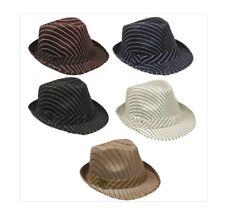 72 PC Bulk Wholesale Lot Assorted Color Mesh Pinstripe Fedora Hats