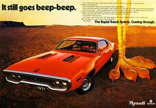 1971 Plymouth Roadrunner - Promotional Advertising Poster