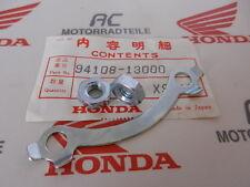 Honda XL 100 125 175 TL 125 Sicherungsblech und Mutter Set Kettenrad Neu Orig