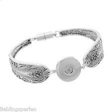 Gift Wholesale Snap Bracelet Fit Snap Button Flower Magnetic Tube Bar Clasp