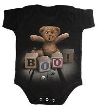 SPIRAL DIRECT Boo babygrow/one piece/baby grow/suit scary/teddy bear/biker/goth