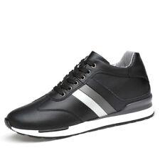 Elevator Men Shoes Black White 6.5cm Hidden Heel Height Increasing Sport Shoes