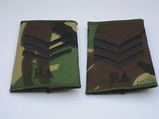 Distintivo di grado: Sergente , Royal Artiglieria,DPM 3 Angolo & RA)