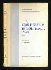 JOHN HARE CONTES ET NOUVELLES DU CANADA FRANCAIS 1778-1859