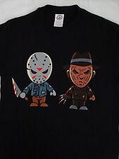 Freddy Krueger and Jason Voorhees Horror Movie Cartoon T-Shirt