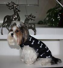 Hunde Pulli *Bone* schwarz-weiß, Hundepullover, Hunde Zauberland