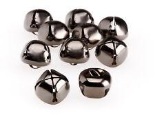 20mm Diameter Jingle Bells GUN METAL BLACK Charm Craft Christmas Morris Dancer