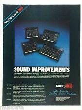 retro magazine advert 1982 SUNN mixers / PA