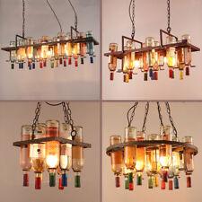 Hanging Wine Bottles Chandelier Pendant Lamp Ceiling Light Bar Kitchen Lighting