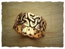 "Keltischer Ring ""Triquettas"" aus Bronze - Schmuck, Celtic, Triquettas"