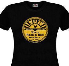 T-shirt femme SUN Record  Rock'n'Roll Rockabilly Country Elvis Cash Perkins 50's
