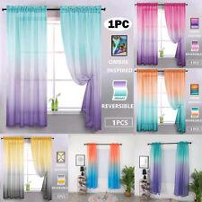 Gradient Color Tulle Door Window Curtain Drape Panel Sheer Scarf Valances GU