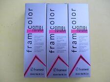 THREE TUBES of Framesi FramColor Futura Hair Color 2oz ea NEW!