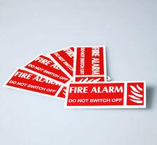 ALLARME antincendio in PVC Rigida Etichetta di avvertimento - 2 taglie disponibili confezioni da 5