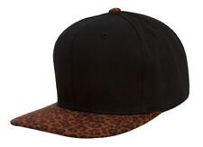 TopHeadwear Leopard Print Two-Tone Adjustable Snapback