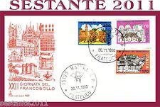ITALIA FDC CAPITOLIUM 423 XXII GIORNATA DEL FRANCOBOLLO 1980 ANNULLO MATERA C218