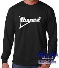 "T-SHIRT NEGRA MANCHE LONGUE""IBANEZ 2""LONGUE MANCHE T-SHIRT BLACK"