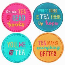 One Single Glass Round Tea Colourful Modern Coaster You Me & Tea Drink Tea