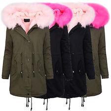 Damen parka winterjacke damen jacke mantel fellkragen kapuze warme jacke D-256