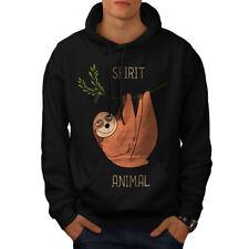 Wellcoda Sloth Spirit Animal Mens Hoodie, Cute Casual Hooded Sweatshirt