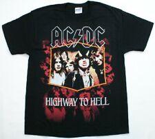 AC DC HIGHWAY TO HELL T-Shirt Hard Rock & Roll Music Black  AC/DC NWOT