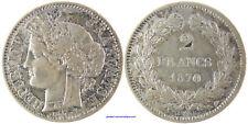 2 FRANCS CERES , SANS LEGENDE , 1870 K  BORDEAUX  ANCRE