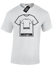 INCEPTION Camicia Da Uomo T-shirt BARZELLETTA Divertente Stampata Fashion Design Pellicola FILM TOP