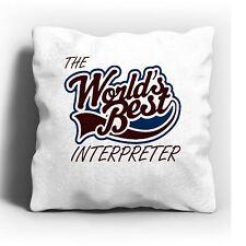 The Worlds Best Interpreter Cushion