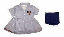 abitino neonata mezza manica camicia mutandina MINNIE topolina disney WD101187