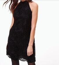 Ann Taylor Loft Velvet Lace Halter Dress NWT