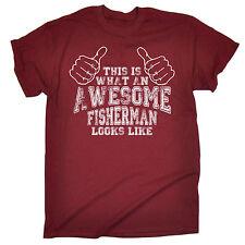 Awesome Fisherman MENS T-SHIRT tee birthday fashion fishing bait tackle funny