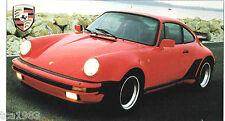 1976 / 1977 PORSCHE 911 TURBO SPEC SHEET / Brochure / Prospek