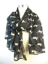 Grand Poids Léger Kitty Cat Écharpe Impression | style vintage foulard | noir ou rouge