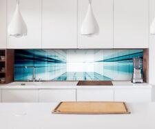 Aufkleber Küchenrückwand 3D Effekt Tür Durchgang blau Tunnel Energie  22A218