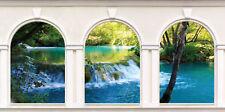 Sticker trompe l'oeil 3 Arches Rivière