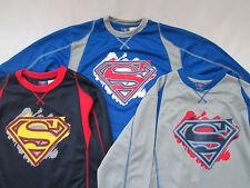 Superman Shirt Youth Longsleeve DC Comics WB 14 16 18 20 Large XL New sweatshirt