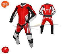 Rouge une pièce combinaison cuir moto de course costume avec haute qualité PROMO