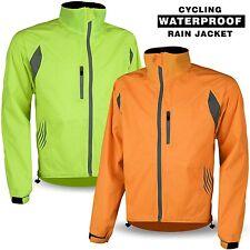 Cycling Waterproof Jacket Rain Proof Bicycle Hi Vis Visibility Coat Breathable