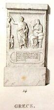 """Musee des Antiques"" Eng. -c1811- GREEK GRAVESTONES"