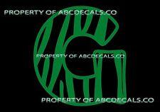 VRS Custom Name Monogram Zebra Print Initial Letter G CAR DECAL VINYL STICKER