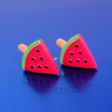 FUNKY FRUIT EARRINGS CUTE KITSCH KAWAII SWEET RETRO JUNK FOOD STYLE JUICY SNACK