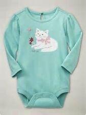 NWT BABY GAP GIRL'S AQUARIUM KITTY GRAPHIC BODYSUIT 100% COTTON