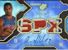 2007-08 SPX SPECTRUM ARRON AFFLALO  GOLD AUTO RC PATCH #/10 RARE VHTF