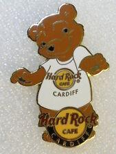 CARDIFF,Hard Rock Cafe Pin,White BEAR T-Shirt Series