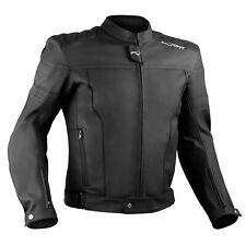 Moto Leather Jacket Chaqueta Piel Naked Custom Protecciones Homologado Negro